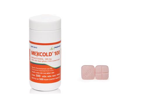 Thuốc Mexcold 80 80mg Paracetamol giảm đau, hạ sốt
