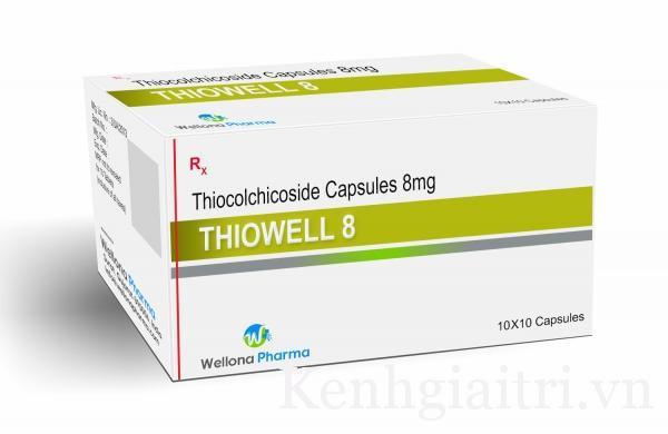 Thuốc Thiochicod 8mg Thiocolchicosid điều trị hỗ trợ chứng co cứng cơ cấp tính trong bệnh lý cột sống