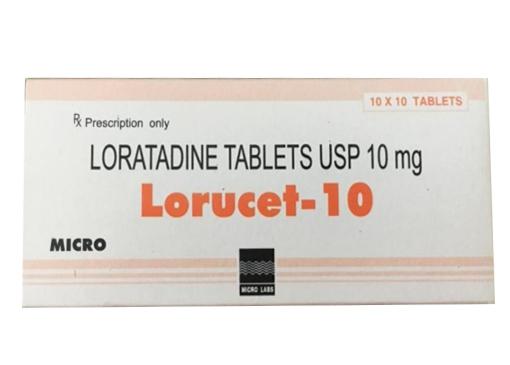 Thuốc Lorucet-10 10mg Loratadineđiều trị viêm mũi dị ứng