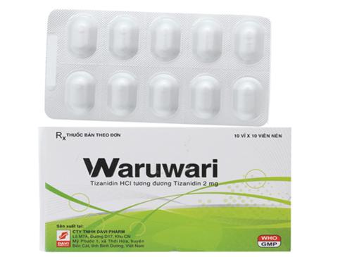 Thuốc Waruwari 2mg Tizanidin giãn cơ