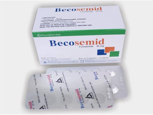Thuốc Becosemid 40mg Furosemid điều trị tăng huyết áp, phù