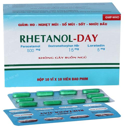 Thuốc Rhetanol - Day điều trị cảm cúm