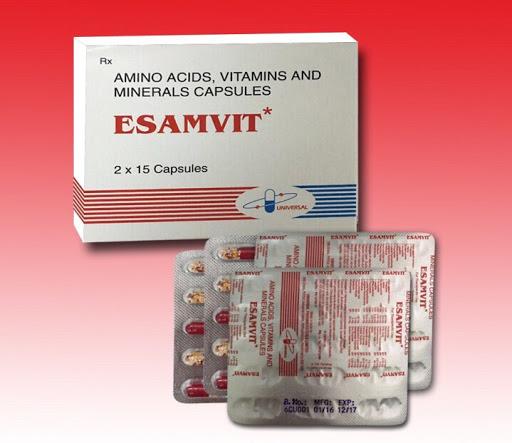 Thuốc Esamvit capsule phòng và trị bệnh do thiếu hụt vitamin