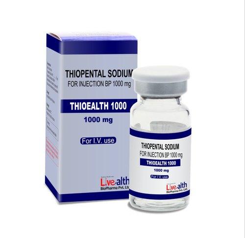 Thuốc Thiopental Injection BP 1g làm chậm hoạt động của não và hệ thần kinh