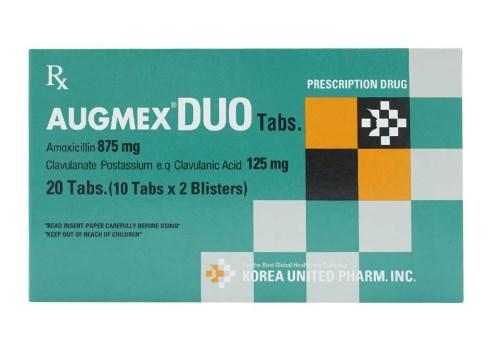 Thuốc Augmex Duo Tabs điều trị nhiễm trùng đường hô hấp trên và dưới