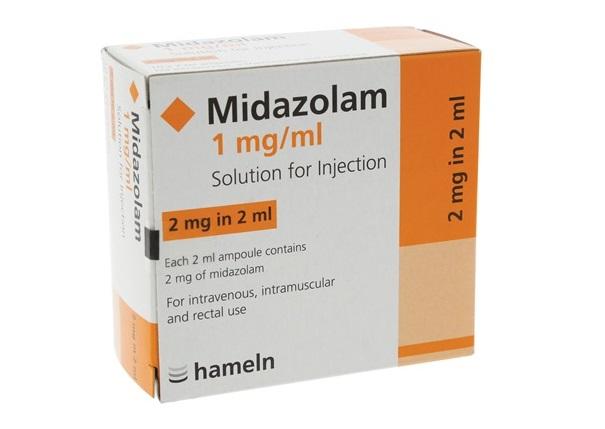 Thuốc Midazolam-hameln 1mg/ml Injection tiền mê, dẫn mê, duy trì mê