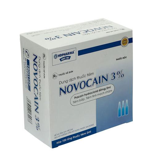 Thuốc Novocain 0,06g/2ml Procaine hydrochloride gây tê