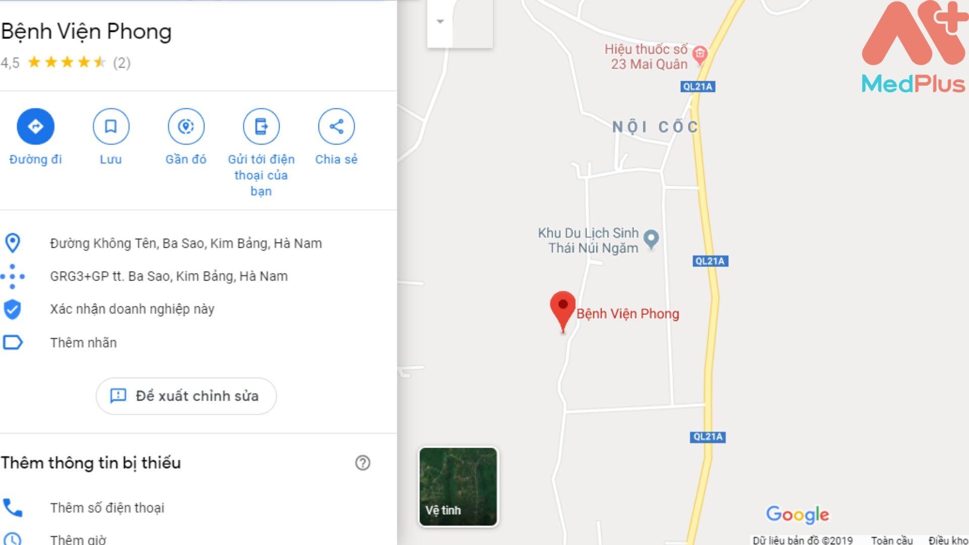 Địa chỉ Bệnh viện Phong Hà Nam