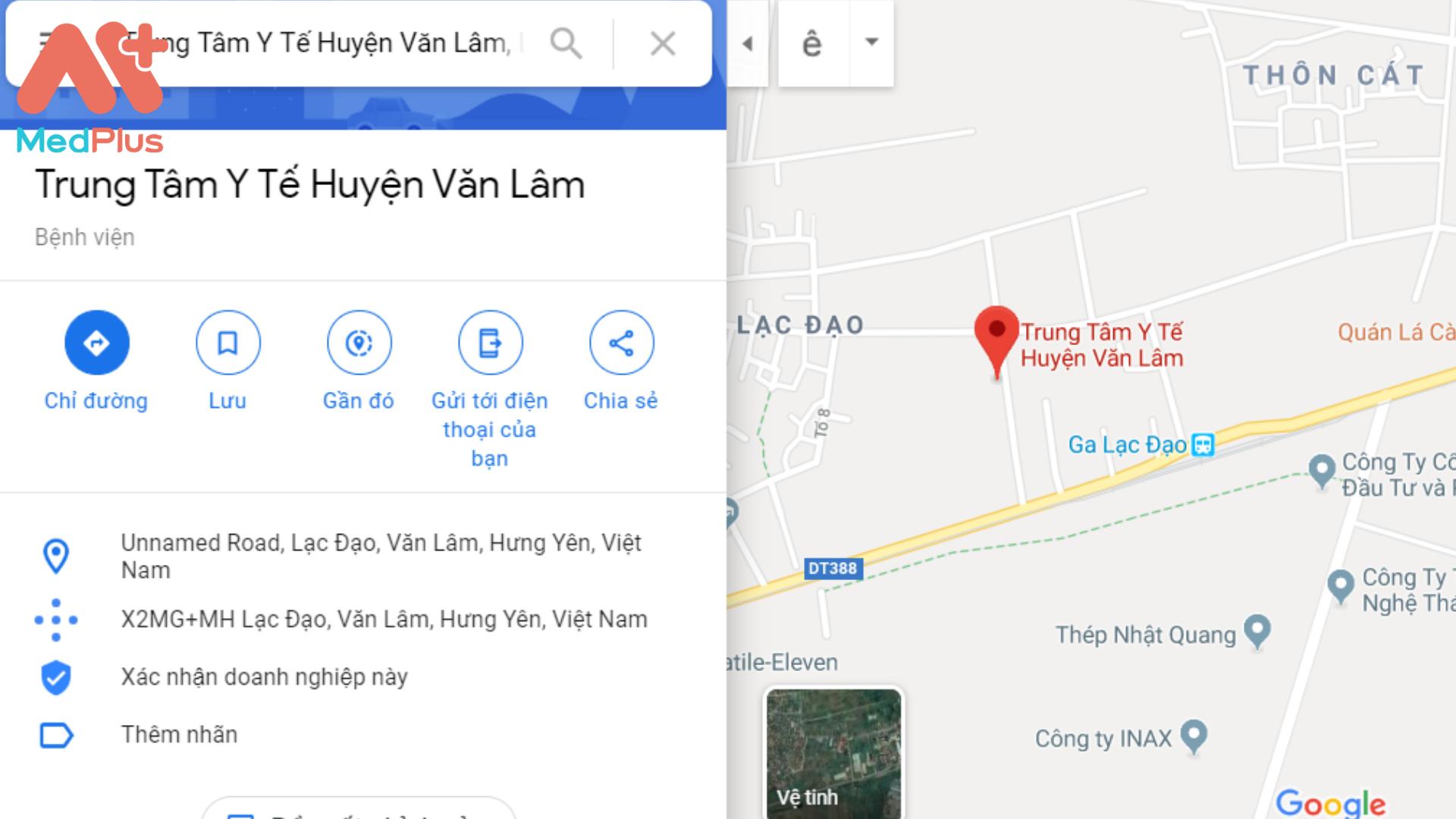 Địa chỉ bệnh viện huyện Văn Lâm