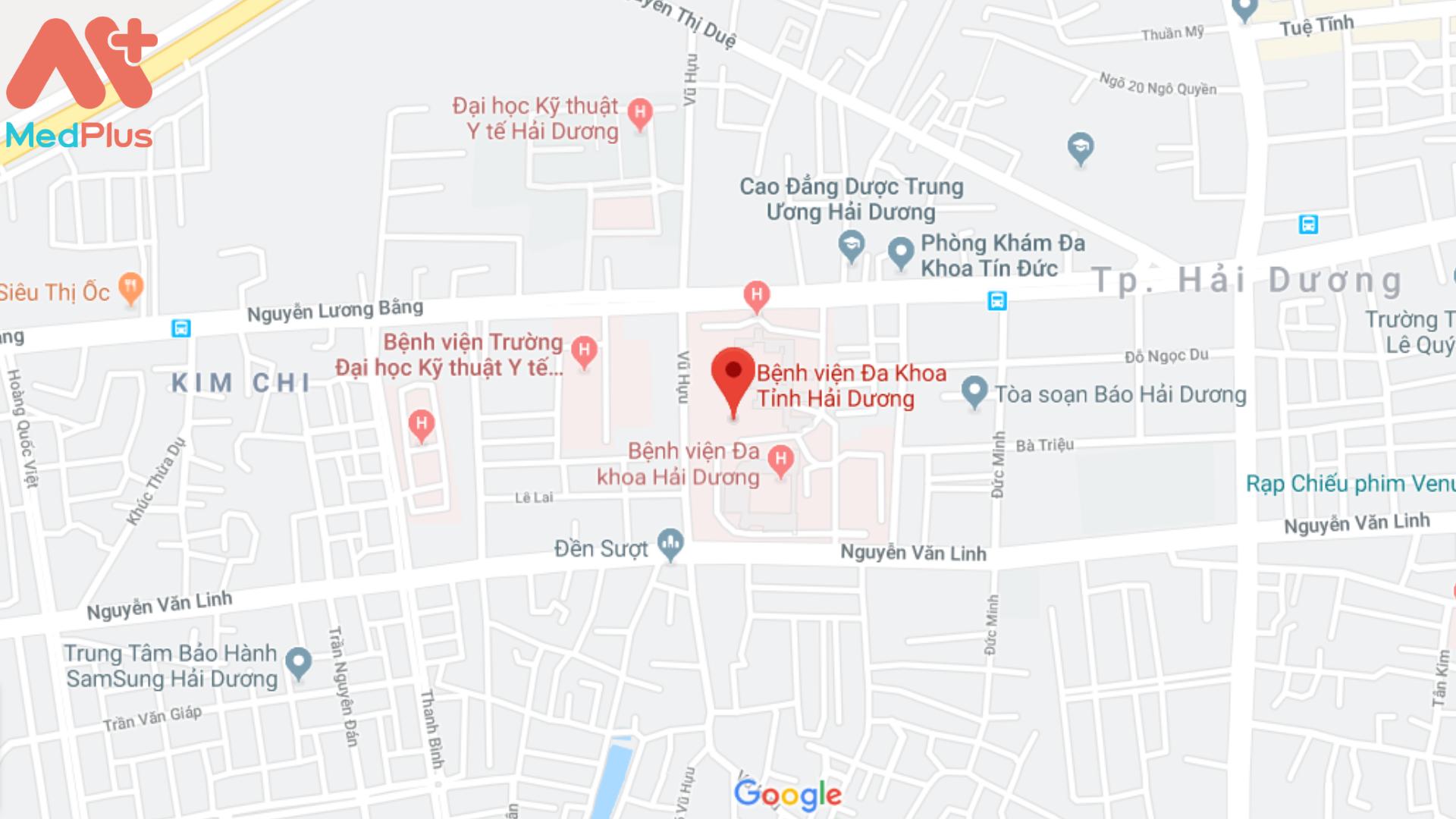 Địa chỉ bệnh viện Đa khoa tỉnh Hải Dương