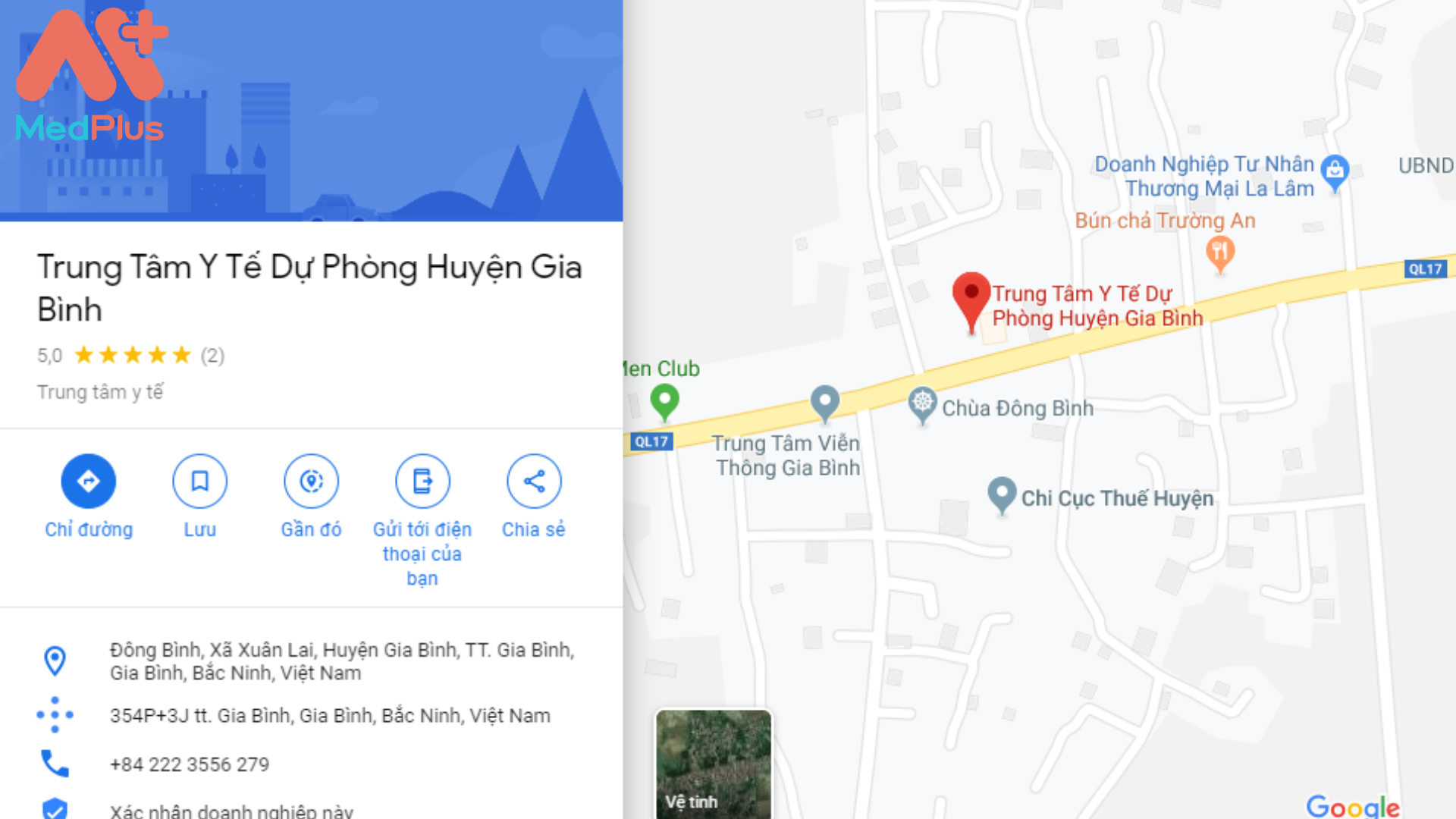 Địa chỉ Trung tâm Y tế huyện Gia Bình