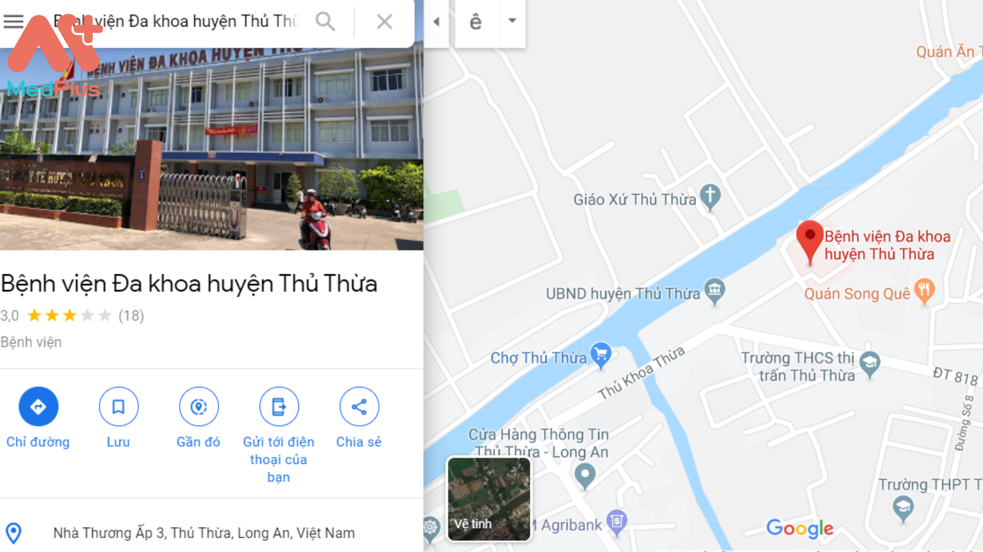 Địa chỉ bệnh viện Đa khoa Thủ Thừa Long An
