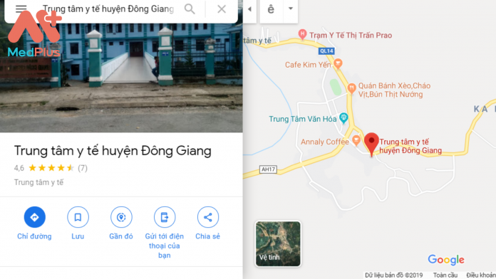 Địa chỉ Trung tâm Y tế Đông Giang