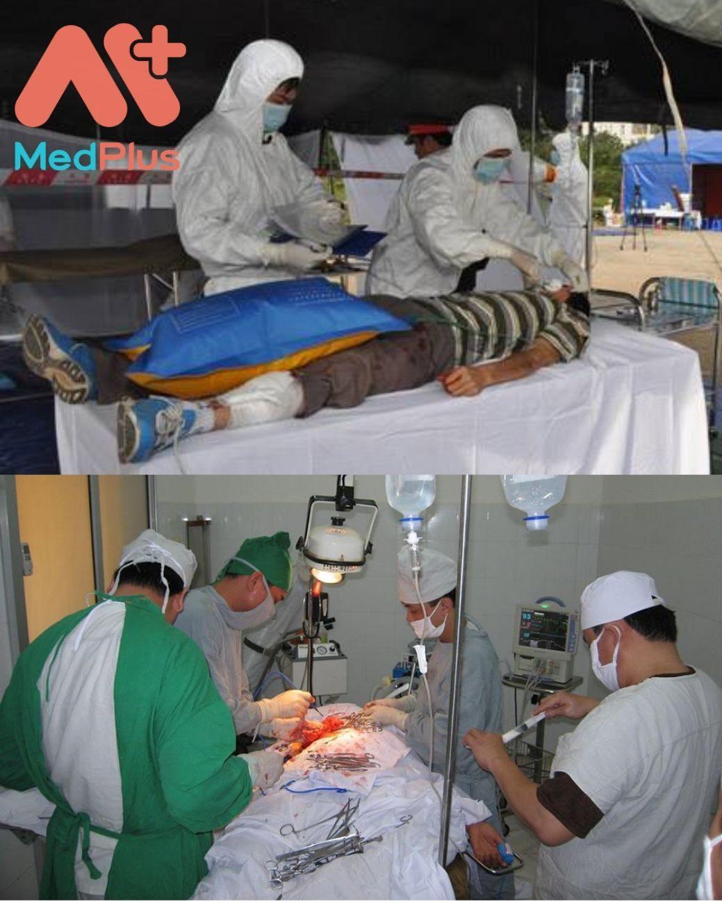 HÌnh ảnh thăm khám tại Bệnh viện Y học phóng xạ và u bướu Quân đội