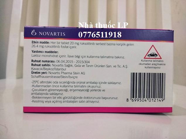 Thuốc Jakavi 20mg Ruxolitinib điều trị ung thư máu (4)
