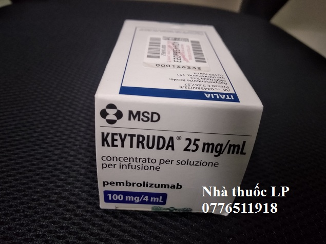 Thuốc Keytruda 100mg/4ml Pembrolizumab điều trị ung thư trúng đích (4)