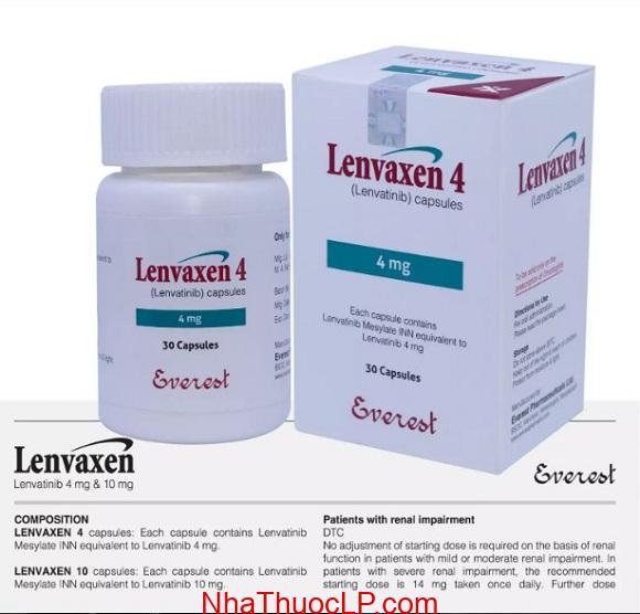 Thuốc Lenvaxen 4mg & 10mg Lenvatinib điều trị ung thư gan (3)