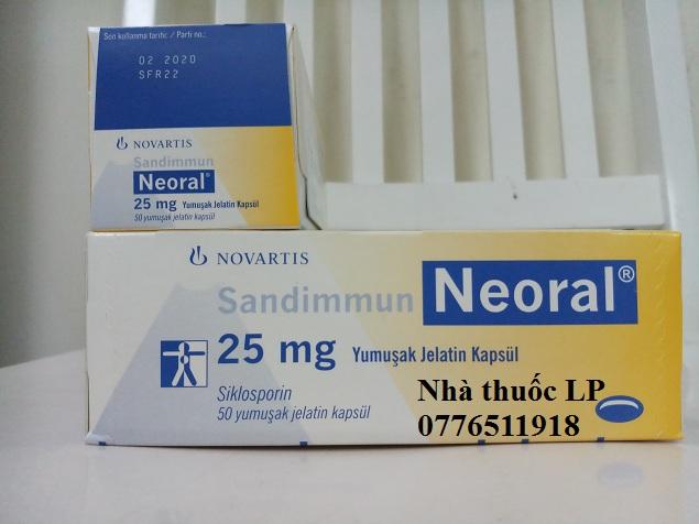 Thuốc Neoral 25mg và 100mg Ciclosporin chống thải ghép tạng (2)