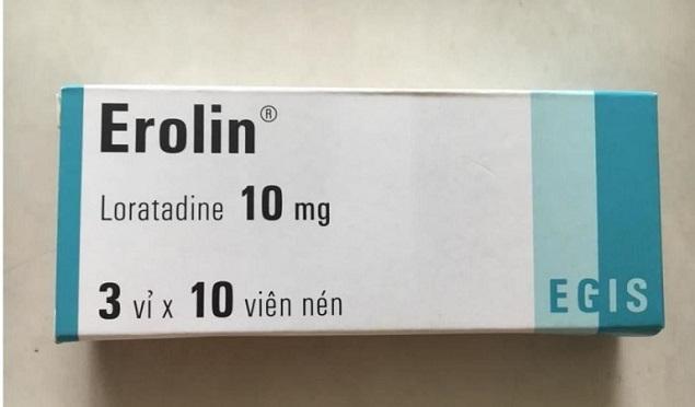 Thuốc Erolin 10mg Loratadine điều trị viêm mũi dị ứng
