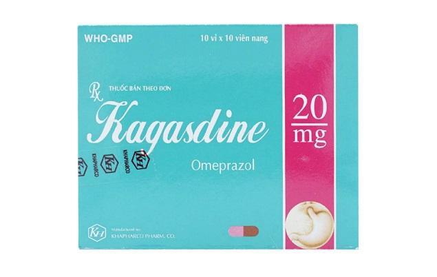 Thuốc Kagasdine 20mg Omeprazole điều trị loét dạ dày, tá tràng và dự phòng loét