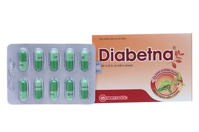Thuốc Diabetna hỗ trợ điều trị tiểu đường