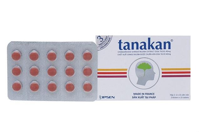 Thuốc Tanakan 40mg Ginkgo Biloba Extract hỗ trợ điều trị các triệu chứng suy giảm trí nhớ của người lớn tuổi