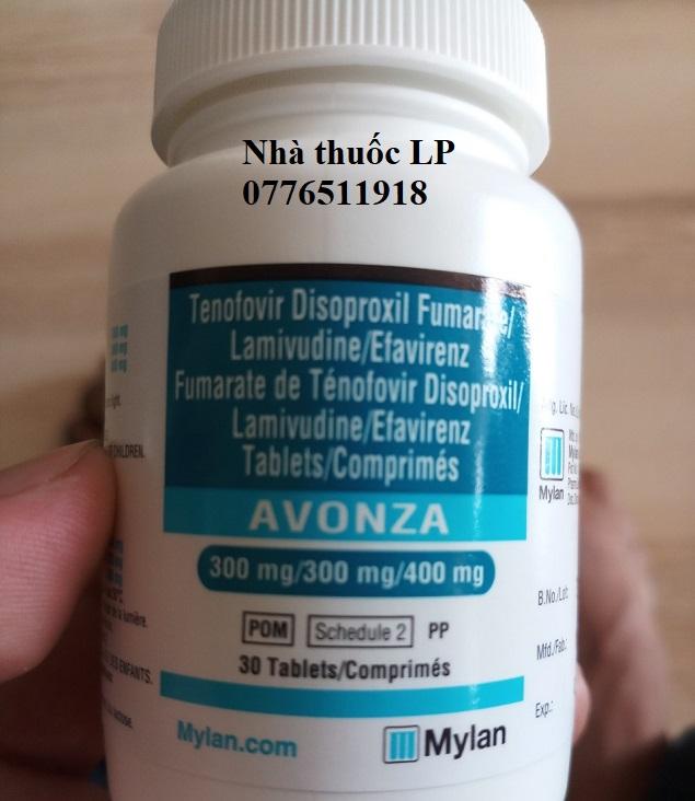 Thuốc Avonza 300mg/300mg/400mg Tenofovir, Lamivudine, Efavirenz điều trị nhiễm HIV (4)