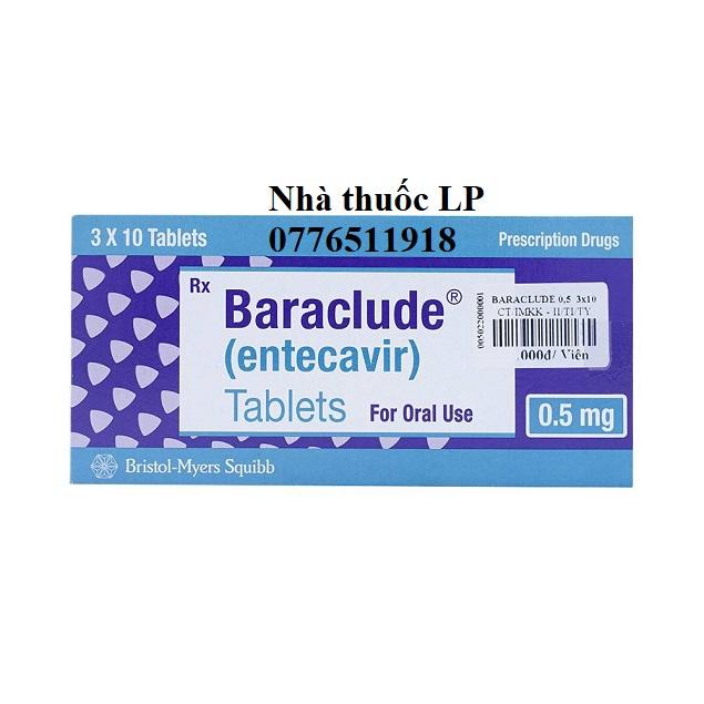Thuốc Baraclude 0.5mg Entecavir điều trị virus viêm gan B (3)