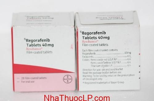 Thuốc Resihance 40mg Regorafenib điều trị ung thư gan, trực tràng (2)