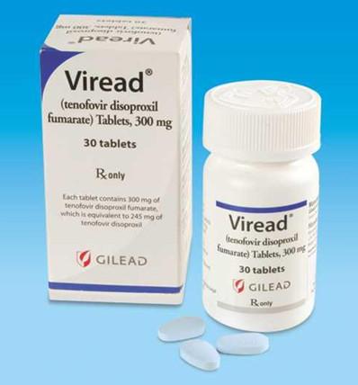 Thuốc Viread 300mg Tenofovir điều trị viêm gan B