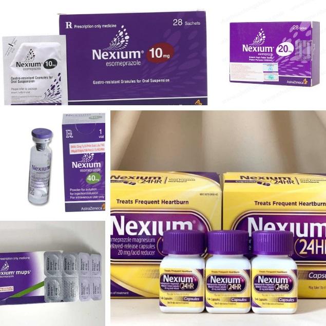 Các dạng hàm lượng thuốc Nexium Esomeprazol